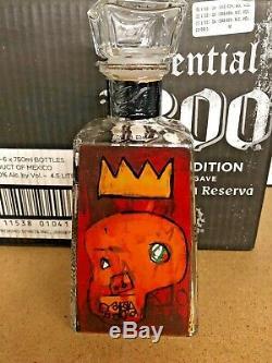 1800 TEQUILA ARTIST JEAN-MICHEL BASQUIAT Red Kings BOTTLE Andy Warhol