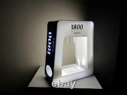 1800 Tequila bottle display with LED lights