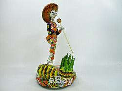 18 TALAVERA CATRINA JIMADOR large maguey tequila plant mexican day of the dead