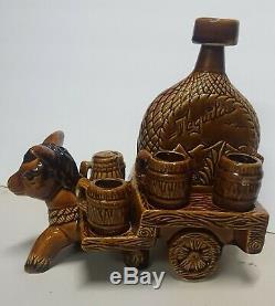 1960's Ceramic donkey Tequila Set