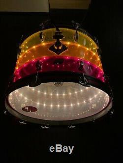 1970's LUDWIG Vistalite Tivoli 24 Bass Drum Tequila Sunrise with switch