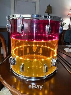 1970's LUDWIG Vistalite Tivoli Drum Floor Tom Tequila Sunrise 16