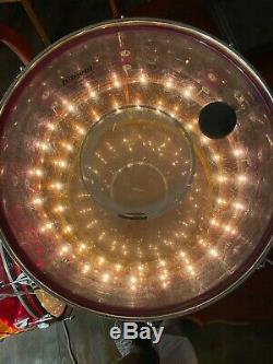 1970's LUDWIG Vistalite Tivoli Drum Floor Tom Tequila Sunrise 16 FREE SHIPPING