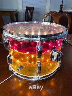 1970's LUDWIG Vistalite Tivoli Drum Rack Tom Tequila Sunrise 13