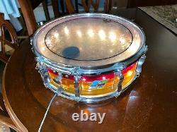 1970's LUDWIG Vistalite Tivoli Snare Drum Tequila Sunrise 14