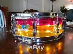 1970's LUDWIG Vistalite Tivoli Snare Drum Tequila Sunrise 14 X 5