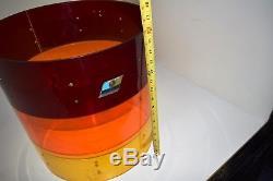 1970's Ludwig 16 Tequila Sunrise Vistalite Drum Shell