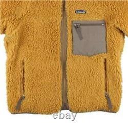 2000s Patagonia Patagonia Retro Pile Cardigan Fleece Jacket Tequila Gold XS rare