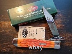 2002 Case XX 6111 1/2L Tequila Sunrise Bone Cheetah Knife Mint In Box RARE AAA+