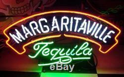 24x20Margaritaville Tequila Neon Sign Light Handcraft Visual Artwork Display
