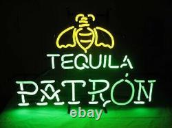 24x20Patron Tequila Neon Sign Light Beer Bar Pub Windows Hanging Visual Art