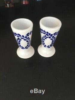 2 PC Clase Azul Individually Hand-Crafted Painted Tequila Snifter Shot Glass 4