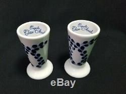 2 Pc Clase Azul Hand-Crafted Painted Tequila Snifter Shot Glasses NEW Never Used