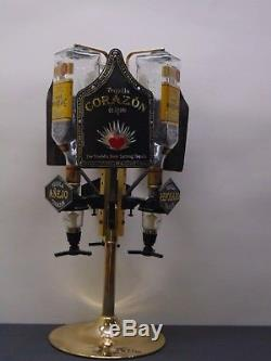 3 Bottle Corazon Tequila Shot Dispenser Ships Free