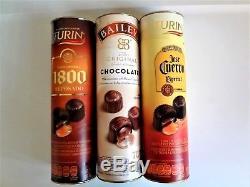 3turin Liquor Filled Chocolates Tequila Jose Cuervo Especial, 1800 & Bailey