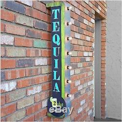 40 Rustic 3D Tequila Metal Wall Art Decor Lighted Tin Marquee Home Bar Pub Sign