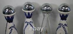 4 Clase Azul Tequila Talavera Pottery Hand Painted & Plata 750ml EMPTY BOTTLES