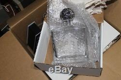 5 DELEON Reposado Tequila Bottle with Silver Skull & Display Stand with Light