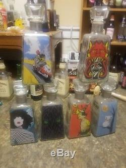 6 Limited Edition 1800 Tequila Essential Artist Series Bottles 2009