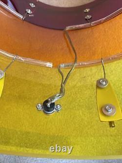 70s Ludwig Vistalite Tivoli Tequila Sunrise 16 x 16 Floor Tom Drum