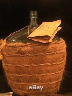 Antique 120+ Yrs Old Damajuana Tequila/wine Bottle Genuine Antique (old Mexico)