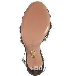 Aquazurra Crystal Tequila Ankle Strap Sandal Euro 39, US 9, Swarovski Crystal
