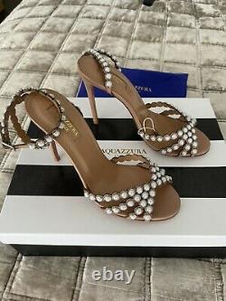 Aquazzura Tequila Heels Size 36 Pale Pink 10.5cm Heel New In Box