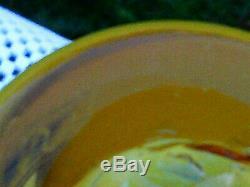 BLENKO Glass Tequila Sunrise SignedRichard Blenko Dated2002 WOW Vase 10.25H