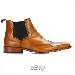 BNIB Jeffery West Mens Tequila Honey Brogue Chelsea Boots Size UK 10