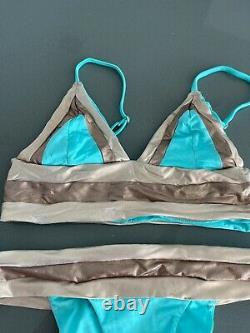 Beach Bunny Tequila Sunrise Bikini Swimwear S top, XS bottom