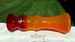 Blenko Glass RARE Tequila Sunrise Experimental Vase 2020 13H x 4W Beautiful