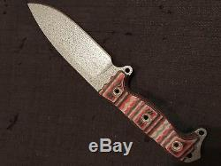 Busse Combat BG Ash1 with hammered silver blade, Tequila G10-NEWithUNUSED ASH 1