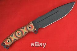 Busse Combat Battle Grade Hell Razor. 24 Black Blade, Red Tequila G10 Handle