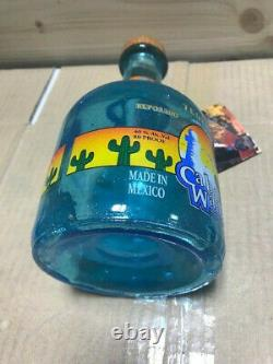 Cabo Wabo Sammy Hagar Tequila Bottle (Empty) Reposado Blue Bottle with Tag