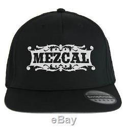 Cappello Mezcal, SnapBack Cap nero con logo Distillato messicano, Mescal Tequila