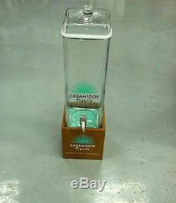 Casamigos Tequila Large Beverage Dispenser Glass With Wood Free Shipping