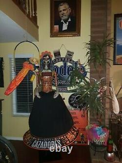 Cazadores Tequila Day of The dead store display UNIQUE over 6 FT