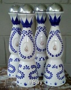 Clase Azul Reposado Ceramic Hand Painted Tequila Bottles 4pk. (Empty)