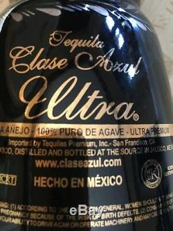 Clase Azul Ultra Anejo Tequila Black/Silver/Platinum/Gold Bottle (empty)