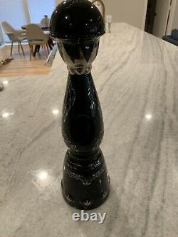 Clase Azul Ultra Anejo Tequila Black/Sliver/Gold Bottle empty