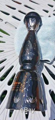 Clase Azul Ultra Tequila Empty Bottle Hand Crafted Platinum Paint