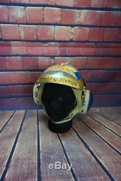 Custom Painted USN Cranial Tequila Sunrise/Defiance Mouse Vietnam Era Helmet