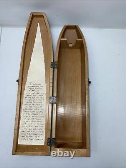 DON JULIO 1942 Tequila Añejo Vintage Wooden Green Coffin Box Only No Bottle