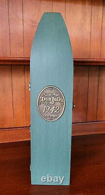 DON JULIO 1942 Tequila Añejo Vntge Wooden Green Coffin Box WITH ORIGINAL BOTTLE