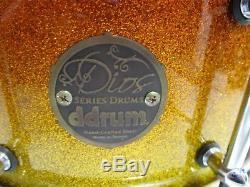 Ddrum Dios Maple 14x7 Snare drum in Tequila Sunrise Sparkle