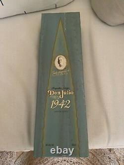 Don Julio 1942 tequila empty bottle with the box