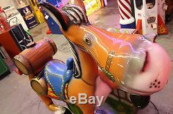 Donkey Coin-Op Kiddie Ride Plays Old McDonald While Packing Tequila