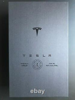 (EMPTY) TESLA TEQUILA BOTTLE + STAND + BOX LIMITED Collectible FEDEX 2Day
