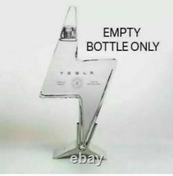 Empty Tesla Tequila Bottle + Stand + Box No Liquor Limited Fast Shipphing