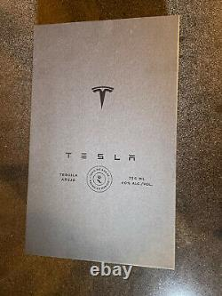 Empty Tesla Tequila Bottle With Box and Stand No Alcohol